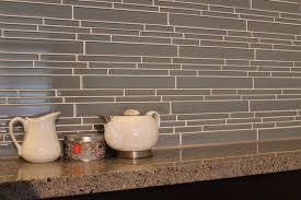Chimney Smoke Linear Glass Mosaic Tile Kitchen Backsplash