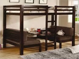 lit avec canapé le lit mezzanine avec bureau est l ameublement créatif pour les