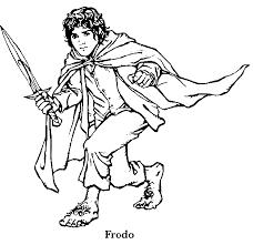 Coloring Picture Of Hobbit Frodo Baggins