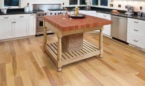 Natural Beige Hardwood Floors Hand Scraped Wood Flooring