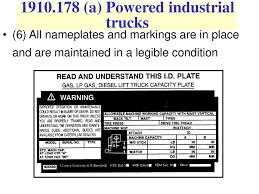 Forklift Safety (d) Ppt Download