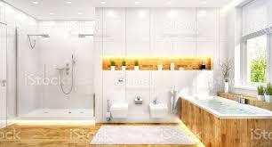 luxuriöses weißes badezimmer im modernen haus stockfoto und mehr bilder architektur