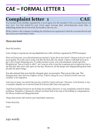 FCE CAE Real Writing Examples Letter Writting English Exam