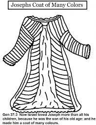 Josephs Coat Of Many Colors Coloring Pages Regarding Joseph And His