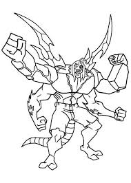 Ben 10 Kevin In Alien Form Colouring Page PageFull