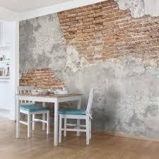 tapete betonoptik shabby backstein wand vlies fototapete breit größe hxb 190cm x 288cm