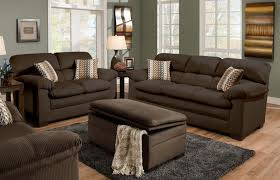 Dark Brown Sofa Living Room Ideas by Chocolate Brown Canvas Love Seat And Sleeper Sofa Which Completed
