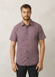lukas slim shirt plaid slim fit top prana