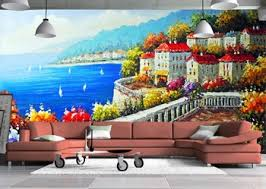 Get Quotations European Style Oil Painting Wallpaper Mural Waterproof Environmental 3D Wall Paper Thicken Non Woven
