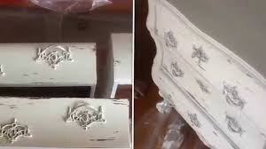 DIY Shabby Chic Before And After 100 Year Old Dresser With Claw Feet