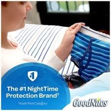 Goodnites Disposable Bed Mats by Goodnites Tru Fit Real Underwear With Nighttime Protection For