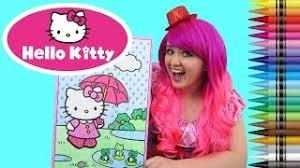 Coloring Hello Kitty Sanrio GIANT Book Page Crayola Crayons