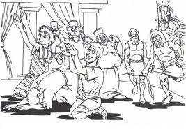 King Nebuchadnezzar Daniel Friends Worship God Colouring Page