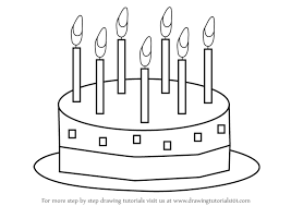 Drawing For Kids learn how to draw birthday cake for kids cakes step step blank