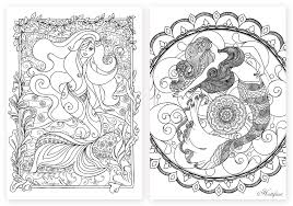 Grown Up Coloring Pages Mermaids For Girls