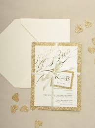 Gold Glitter Wedding Invite For Love Polka Dots