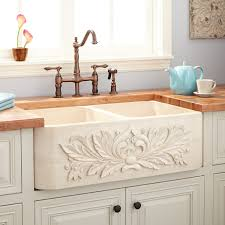 36 Double Faucet Trough Sink by Rectangle Marble Sink Signature Hardware