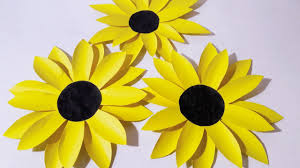 How To Make Sunflower From Chart Paper L Very Easy Craft Ideas 2017