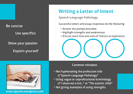 Suggestions for Writing a Letter of Intent – SLP Echo
