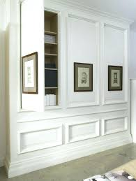 Hidden Wall Storage Design Dining Room Built In Cabinets And