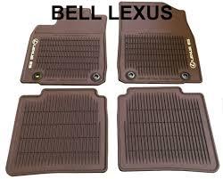 lexus oem factory all weather floor mat set 2016 2018 es350 es300h