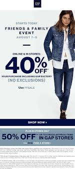Gap Coupons - 40-50% Off At Gap, Gap Outlet & Factory Gap Factory Coupons 55 Off Everything At Or Outlet Store Coupon 2019 Up To 85 Off Womens Apparel Home Bana Republic Stuarts Ldon Discount Code Pc Plus Points Promo 80 Toddler Clearance Southern Savers Please Verify That You Are Human 50 15 Party Direct Advanced Personal Care Solutions Bytox Acer The Krazy Coupon Lady