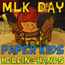 How To Make A Paper Kids Holding Hands For Martin Luther King Day
