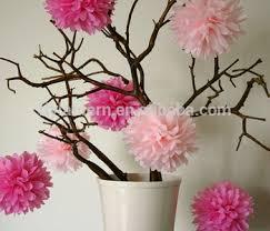 12 Colorful Hanging Decoration Tissue Paper Pom Poms Handmade DIY Wedding Flower Balls