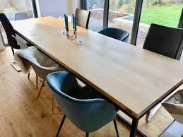 massivholztisch für 10 personen eiche 300 cm esstisch