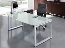 bureau en verre bureau de direction en verre corpus silver avec retour et caisson