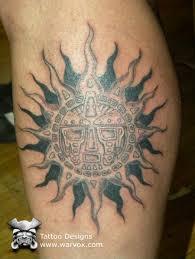 Tribal Sun Tattoo AZTEC TATTOOS Aztec Mayan Inca Designs Instant Download