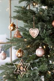 Copper And Pink Ornaments For A Pastel Cute Christmas Tree