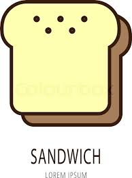 Sandwich Template For Writing Fast Food Burger Box With Die Line