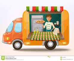 100 Italian Food Truck Cartoon Mobile With Cooker Stock Vector