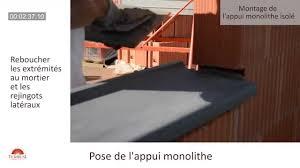 pose d un appui monolithe isolé