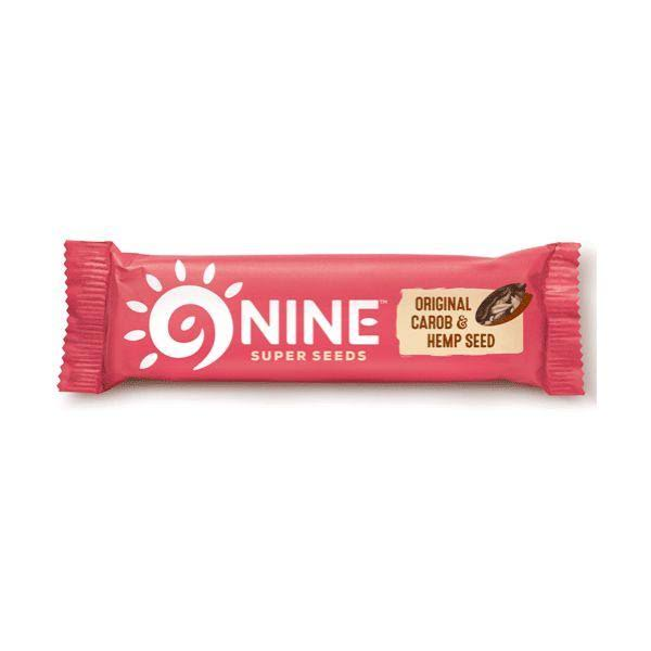 9Nine Super Seeds Original Carob and Hemp Seed Bar - 40g