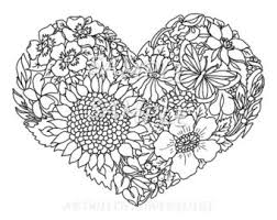 Adult Teen Color Sheet Heart
