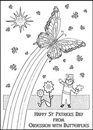 Rainbow Butterfly Coloring Page