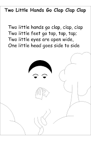 Nursery Rhyme Coloring Pages Two Little Hands
