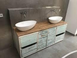 waschtisch altholz beton alte dielen vintage rustikal in