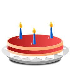 3 Candle Cake