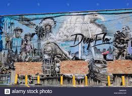 Deep Ellum Murals Address by Mural Deep Ellum District Dallas Texas Usa Stock Photo