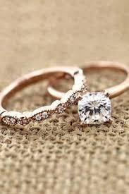 Morganite Wedding Ring Set in 14k Rose Gold with Morganite Round 8mm