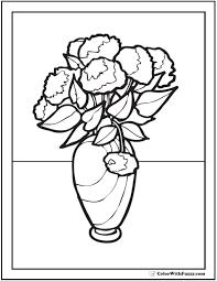 Pin Drawn Vase Carnation Flower 8