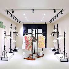 Shelves Display Wholesale Clothing Store On The Wall Floor Rack Wrought
