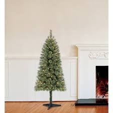 Walmart White Christmas Trees Pre Lit by Holiday Time Pre Lit 6 U0027 Carson Cashmere Spruce Artificial