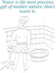 Save Water Environment Coloring Page