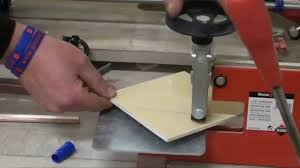 Husky Wet Tile Saw by Cutting Tiles 2 45 Degree Cut Youtube