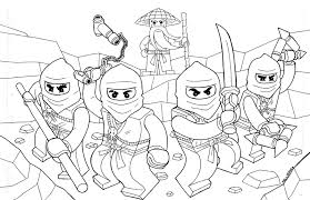 Lego Ninjago Four And At The Head Of Leader Coloring Page