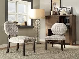 Back Gray Chevron Print Fabric Dining Chairs Set Ofkitchen Room